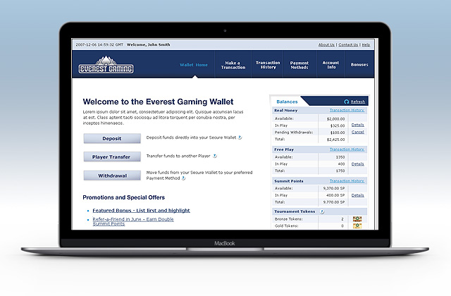 Everest Gaming, e-Wallet